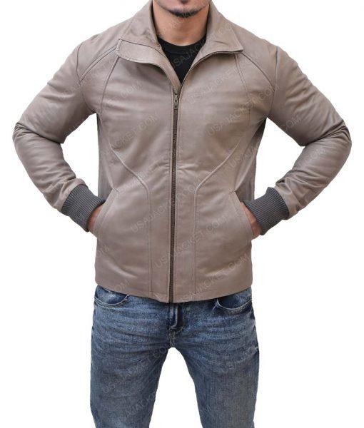 Ryan Reynolds Slimfit Brown Leather Jacket