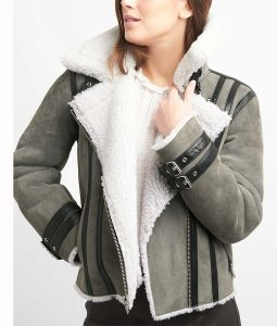Grey Aviator jacket