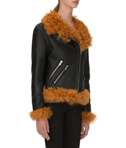 Biker shearling jacket