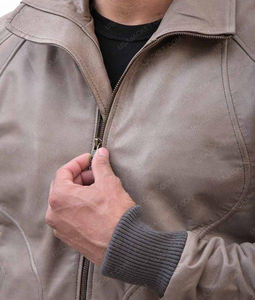 Ryan Slimfit Brown Leather Jacket