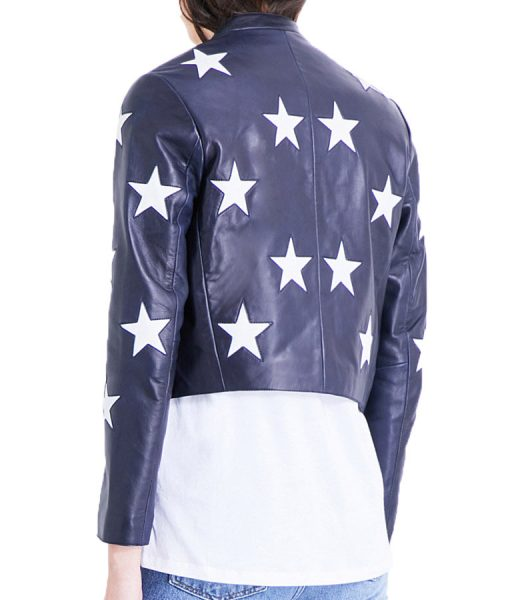 Riverdale Star Printed Leather Jacket