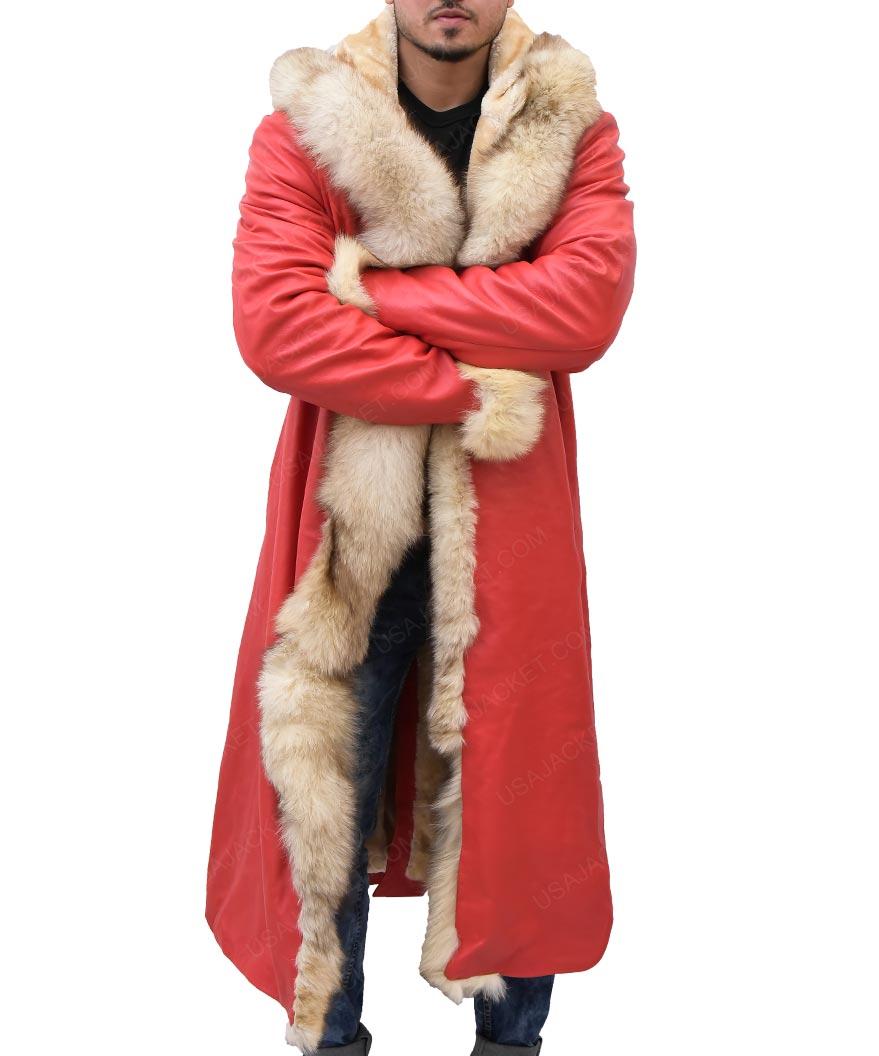 Santa Claus The Christmas Chronicles Kurt Russell Fur Shearling Coat