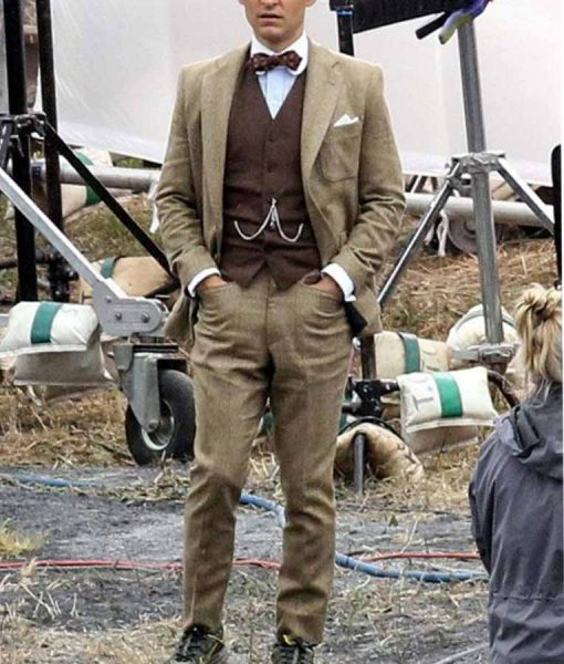 Tobey Maguire The Great Gatsby Nick Carraway Brown Suit
