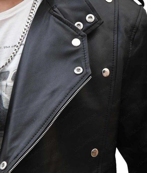 Aquaman Black Motorcycle Leather Jacket