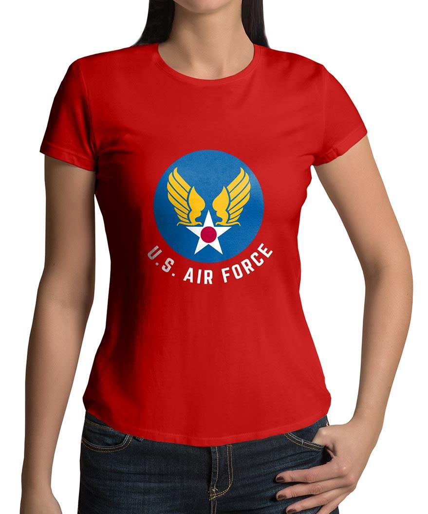 160d8f66 Captain Marvel Carol Danvers Red US Air Force Shirt Women