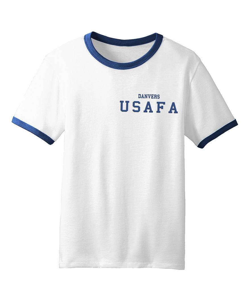 0336a5cff2f4 Captain Marvel Carol Danvers White USAFA Shirt