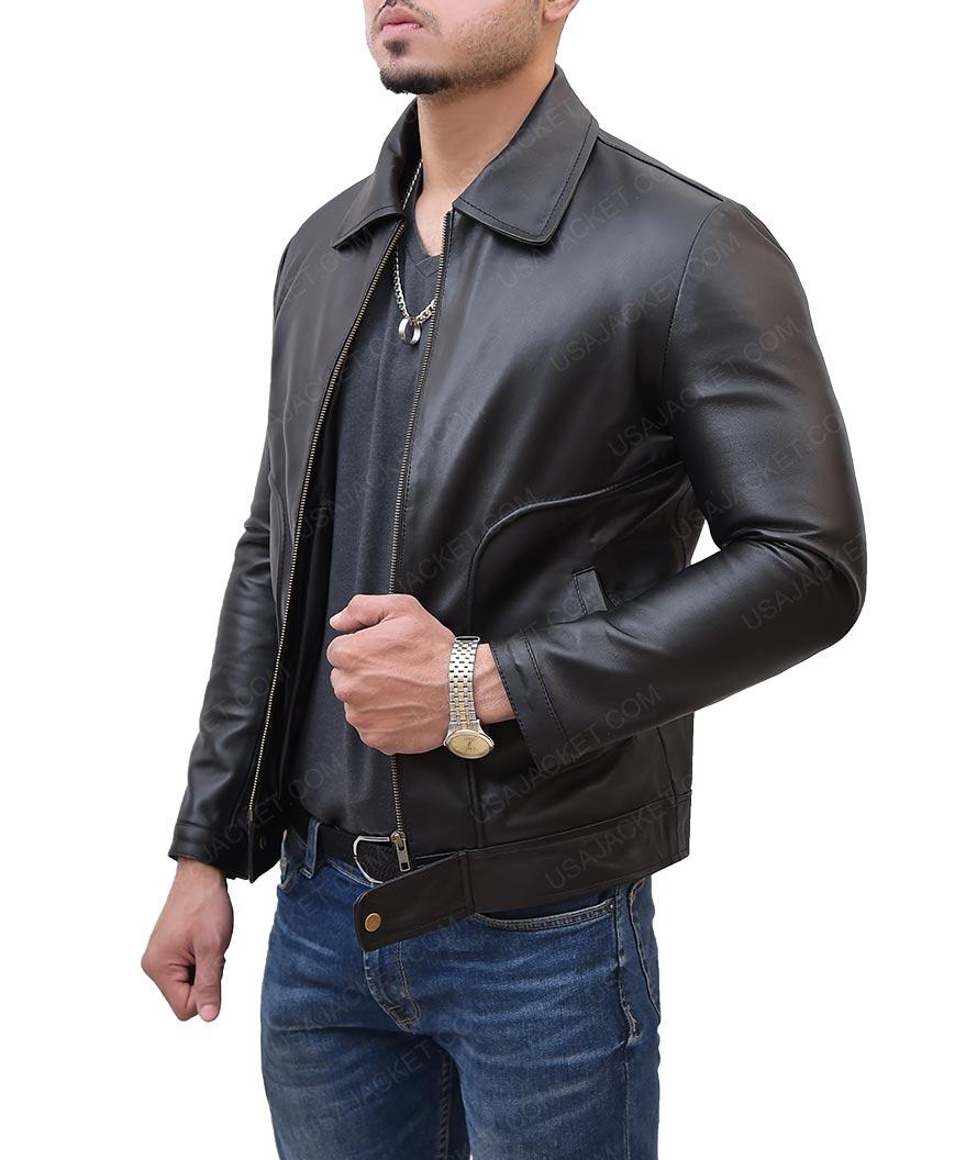 Freaks and Geeks James Franco Leather Black Jacket