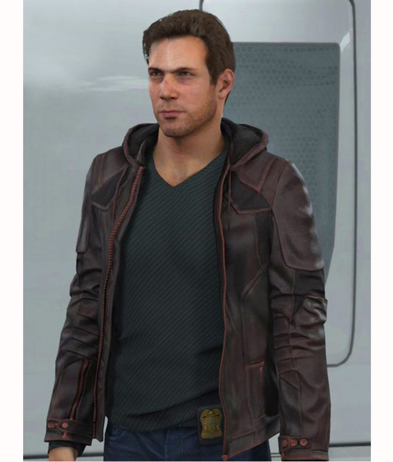 video game detroit become human gavin reed jacket with hoodie