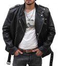 Jason Momoa Aquaman Black Leather Jacket