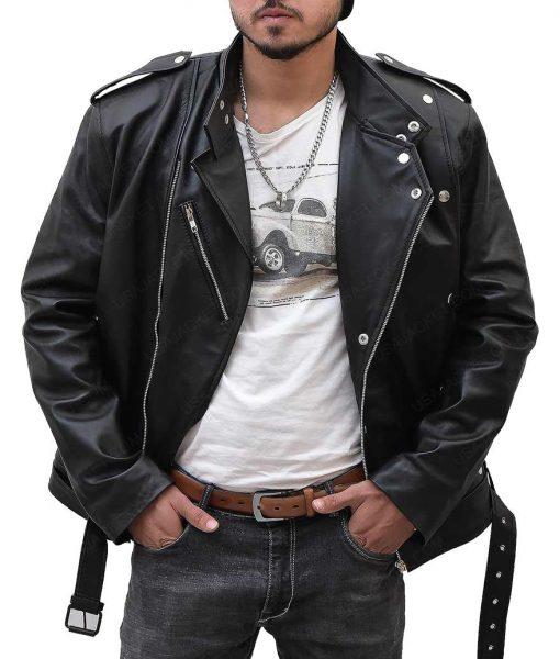 Arthur Curry Aquaman Jason Momoa Black Leather Jacket