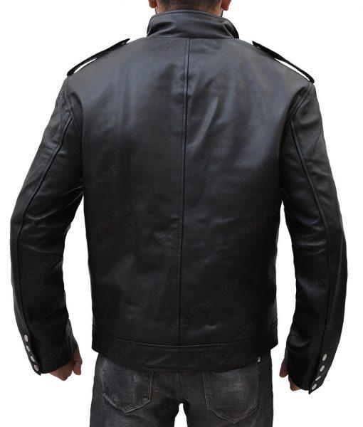 Jason Momoa Aquaman Black Motorcycle Leather Jacket