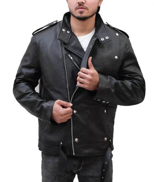 Jason Momoa Aquaman Motorcycle Leather Jacket