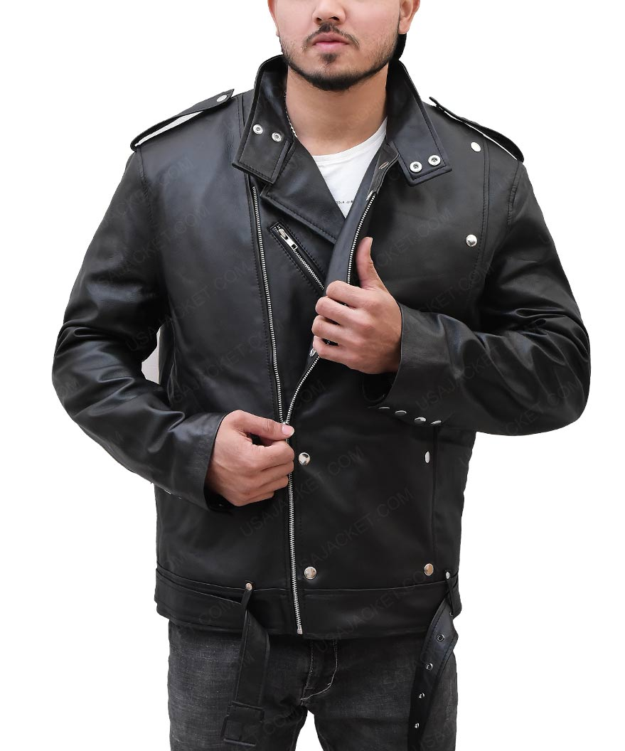 Jason Momoa Vest: Jason Momoa Black Biker Leather Jacket
