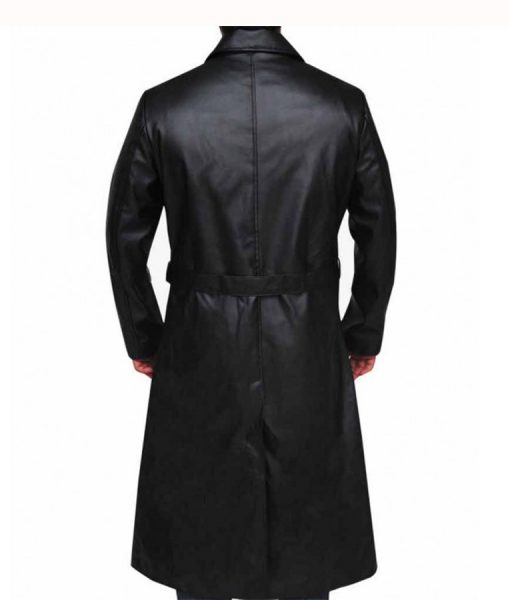 Willem Dafoe The Grand Hotel Leather Coat