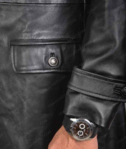 Shazam Mark Strong Leather Coat