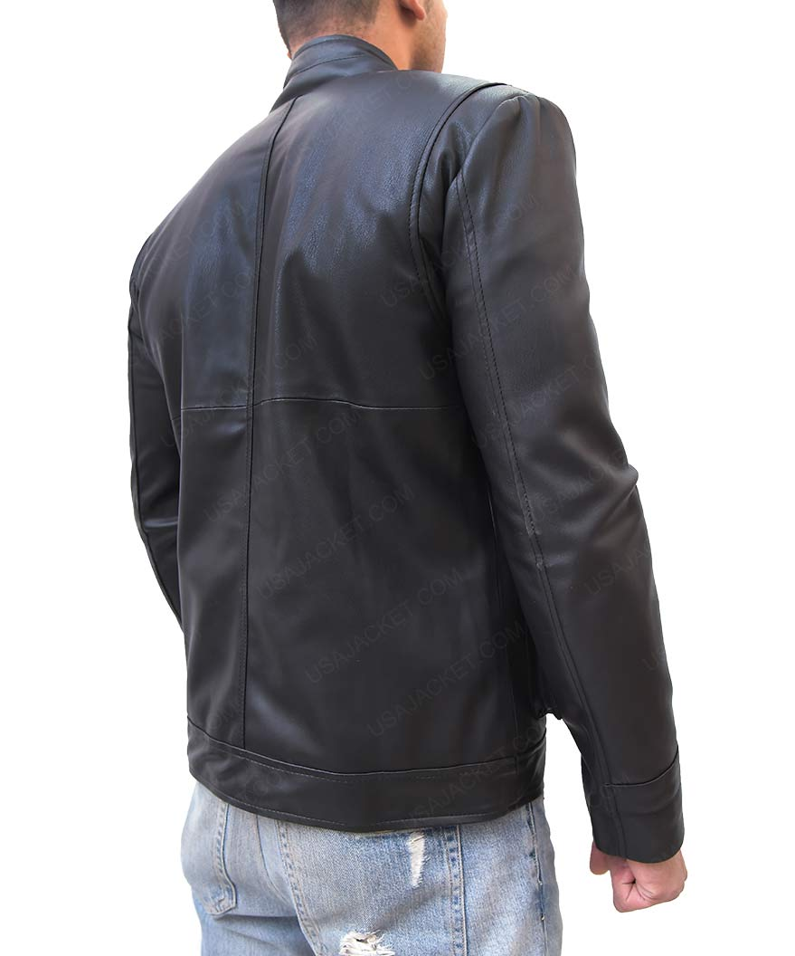 Mens Multi Pocket Black Jacket