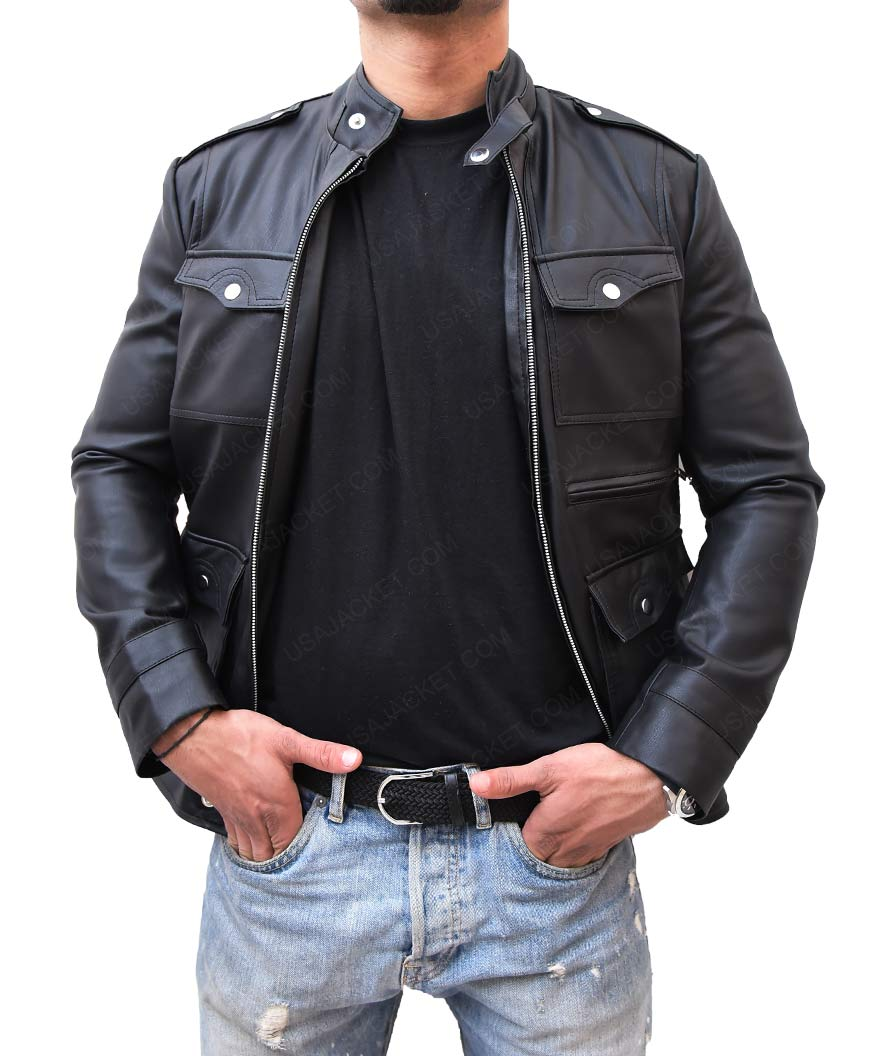 Mens Slimfit Black Jacket
