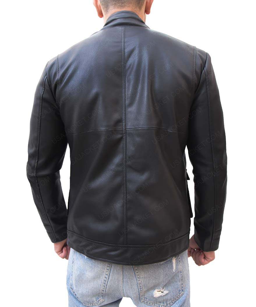 Mens Multi Pocket Slimfit Black Jacket