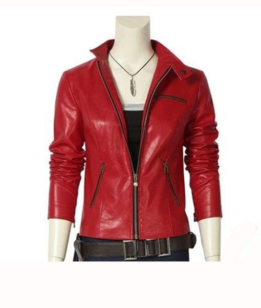 Resident Evil 2 Red Leather Jacket