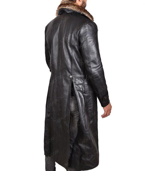 Shazam Dr Thaddeus Sivana Leather Coat