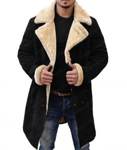 Superfly Youngblood Priest Brown Shearling Leather Coat