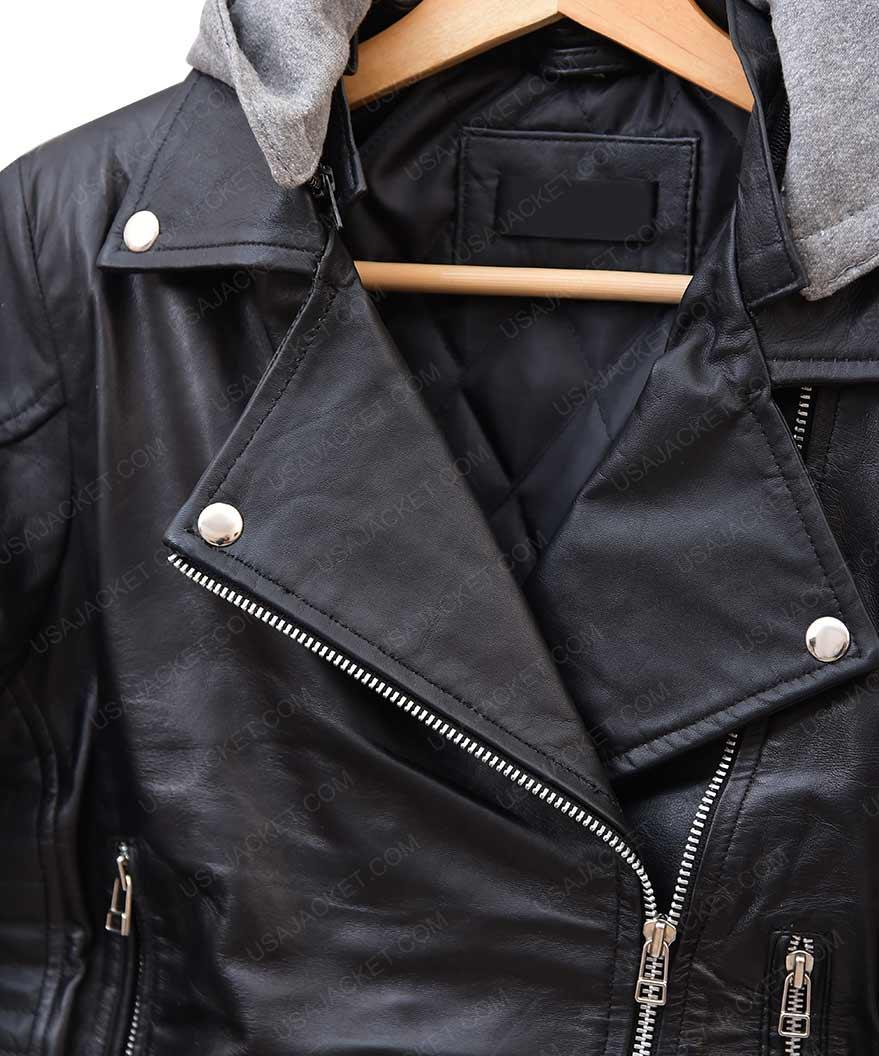 Tulsa The Space Between Us Britt Robertson Biker Leather Jacket