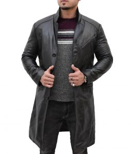 Will Smith I Robot Del Spooner Black Leather Coat