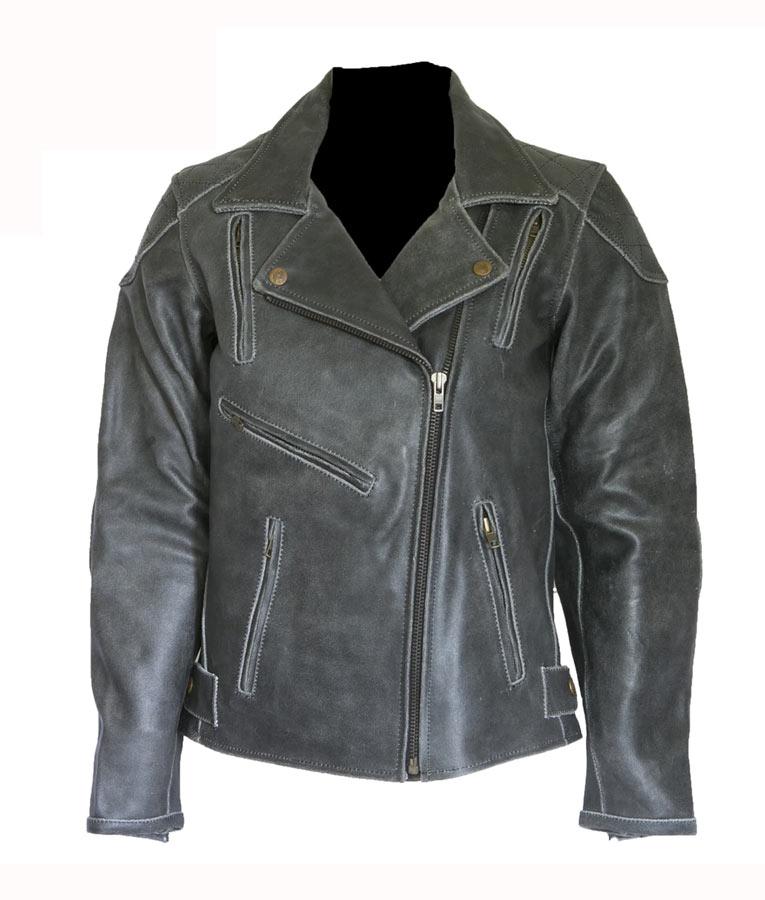 ef9da0f8c Women's Distressed Vintage Motorcycle Leather jacket