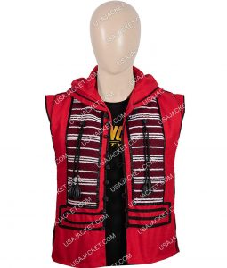Aladdin Mena Massoud Red Cotton Vest On Sale