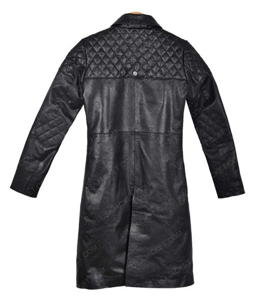 Alita Battle Angel Rosa Salazar Black Trench Coat