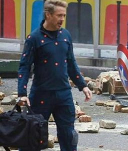 Robert Downey jr Blue Jacket