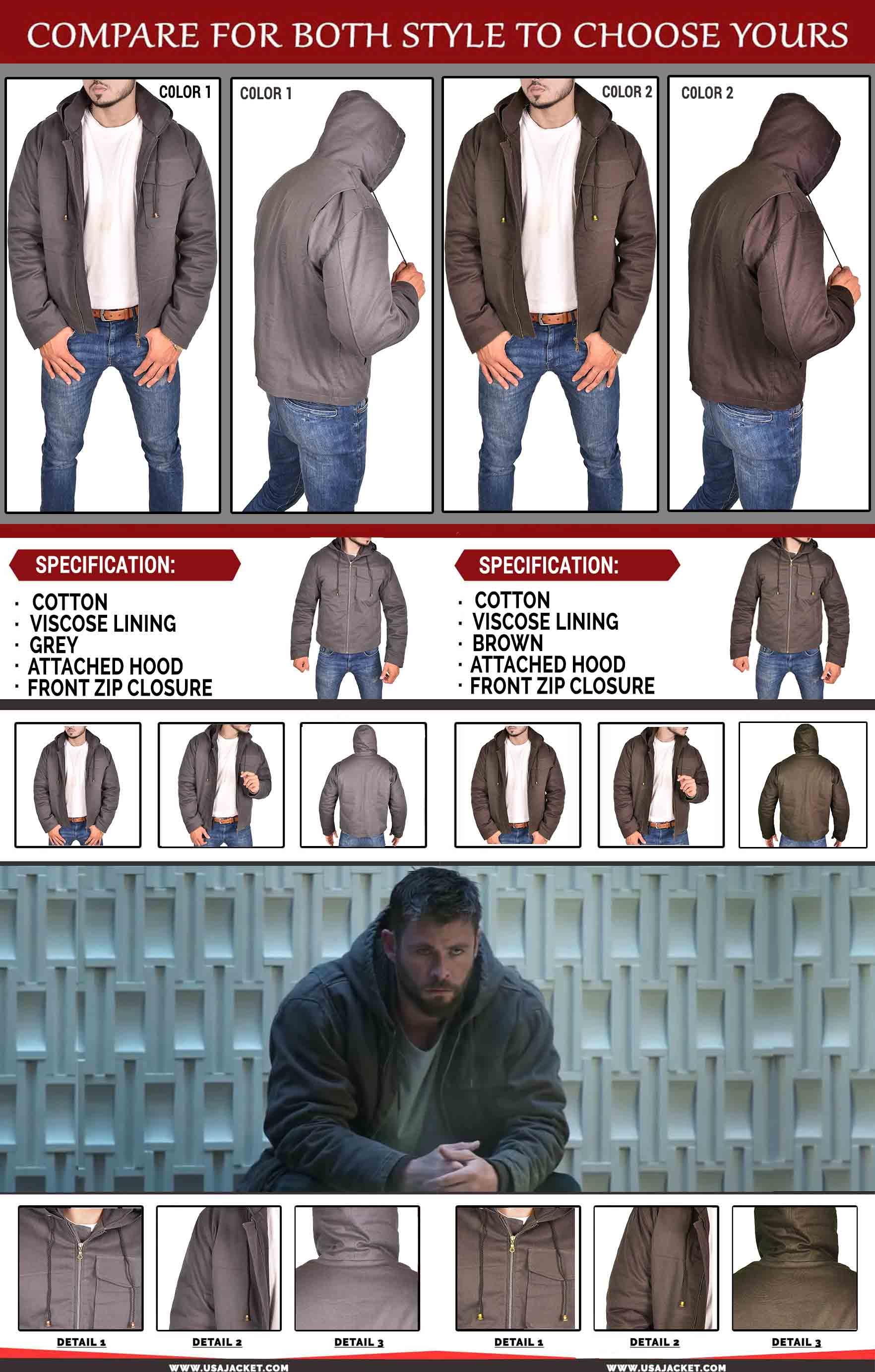 Avengers Endgame Thor Jacket Infogrphic
