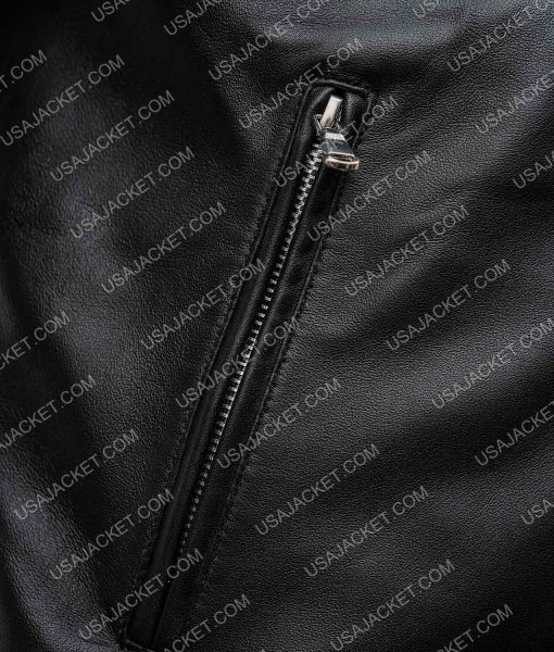 The Umbrella Academy Ben Hargreeves Black Leather Jacket