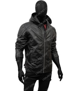 Ben Hargreeves Black Leather Jacket