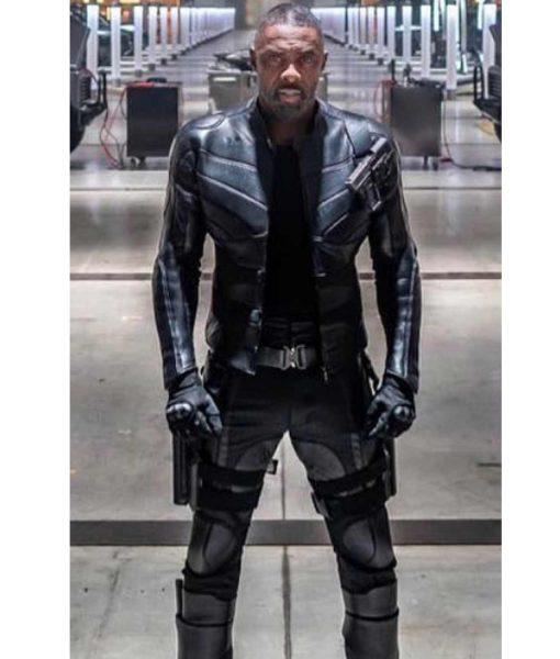 Fast & Furious Hobbs & Shaw Idris Elba Slimfit Black Leather Jacket