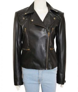 Lucifer Chloe Decker Biker Leather Jacket
