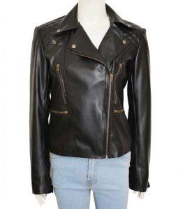 Lucifer Chloe Decker Biker Leather Jacket
