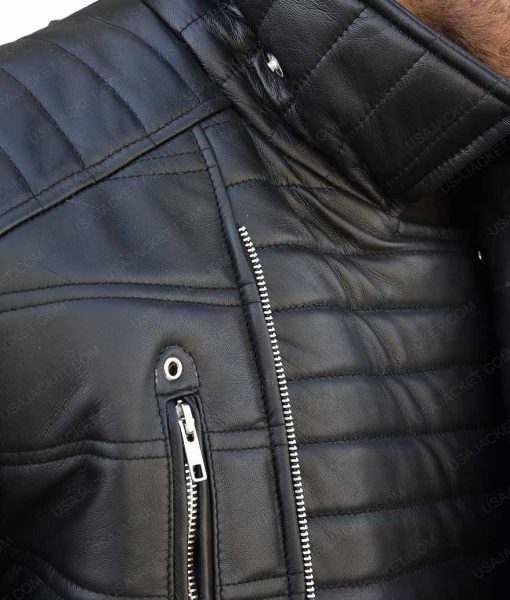 Trevor 'Viking' Calcote Cold Pursuit Tom Bateman Leather Jacket