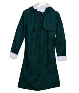 Jenna Coleman Doctor Who S8E12 Clara Oswald Green Hooded Cotton Jacket