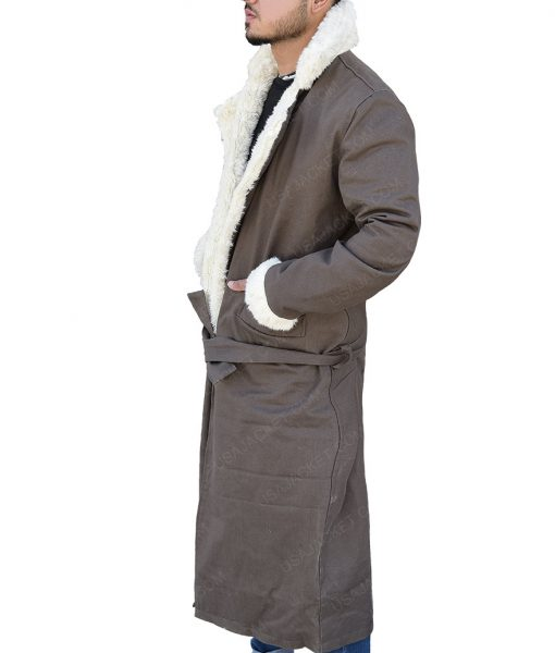 Doom Patrol Negative Man Larry Trainor Fur Collar Trench Coat