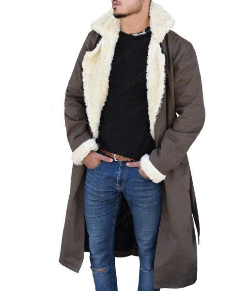 Matt Bomer Doom Patrol Negative Man Fur Collar Trench Coat