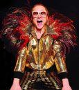 Taron Egerton Rocketman Elton John Golden Satin Jacket
