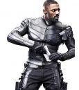 Fast and Furious Hobbs Shaw Idris Elba Slimfit Black Leather Jacket