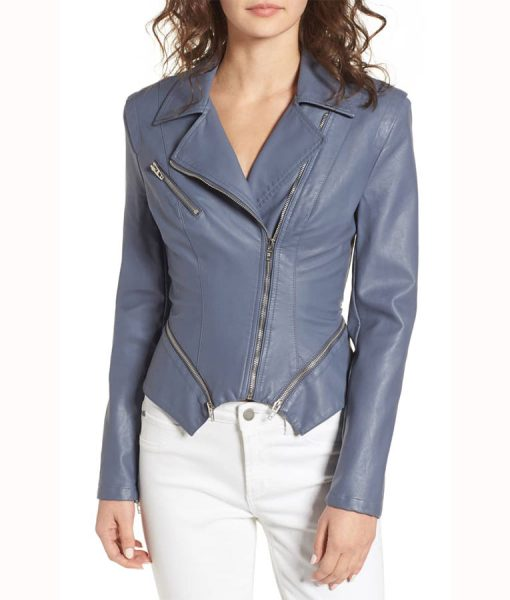 Felicity Grey Leather Jacket