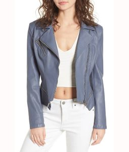 Felicity Grey Motorcycle Jacket