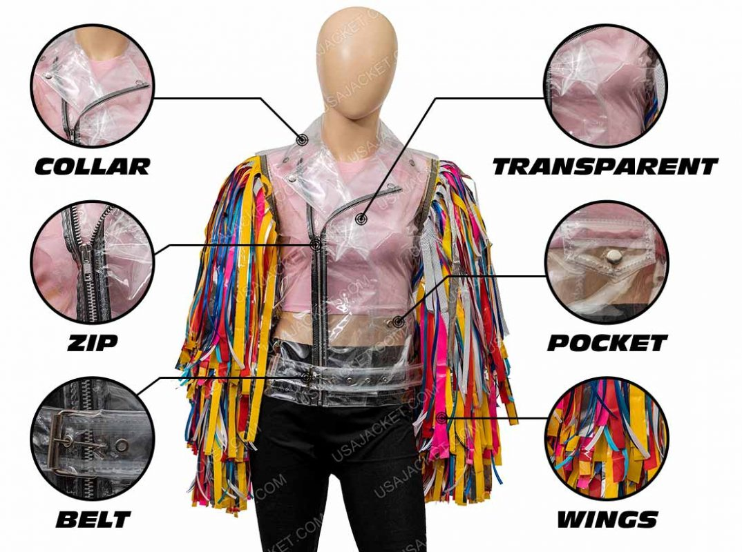 Harley Quinn Birds Of Prey Jacket Infogrphics