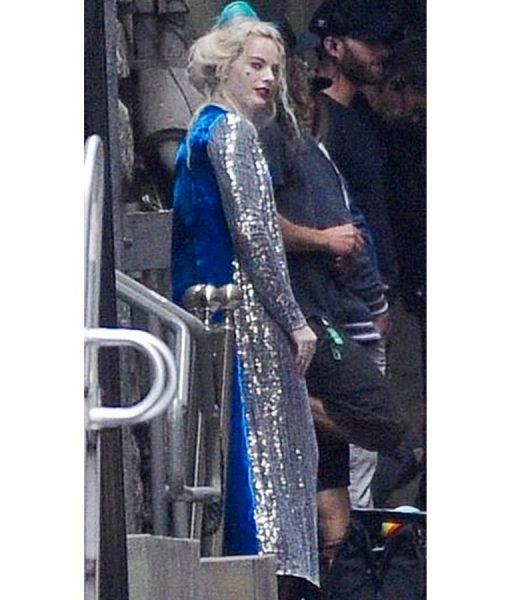 Harley Quinn Long Duster Sequin Coat