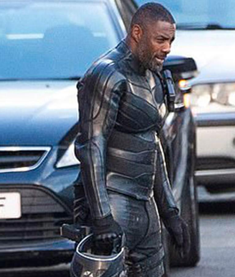 98f58ea8d0 Fast & Furious Hobbs & Shaw Idris Elba Slimfit Black Leather Jacket. Brixton  Lore Jacket
