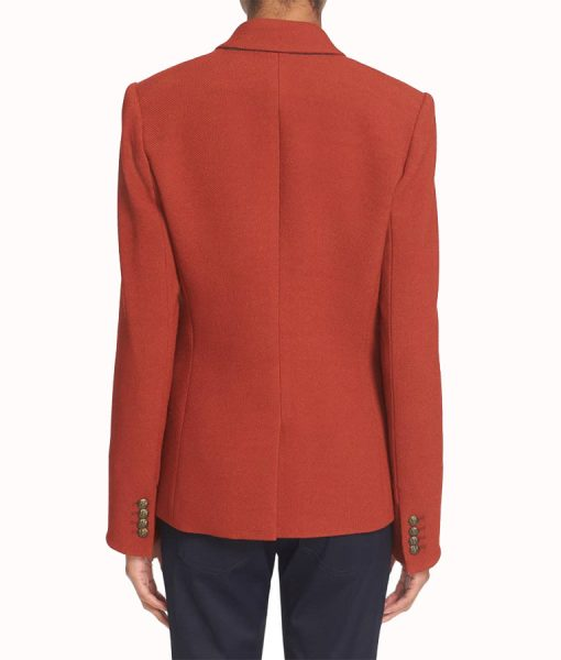 Bonnie's Rust Double Breasted Blazer