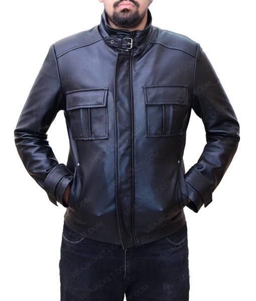 Jake Moore Wall Street Money Never Sleeps Shia Labeouf Black Leather Jacket